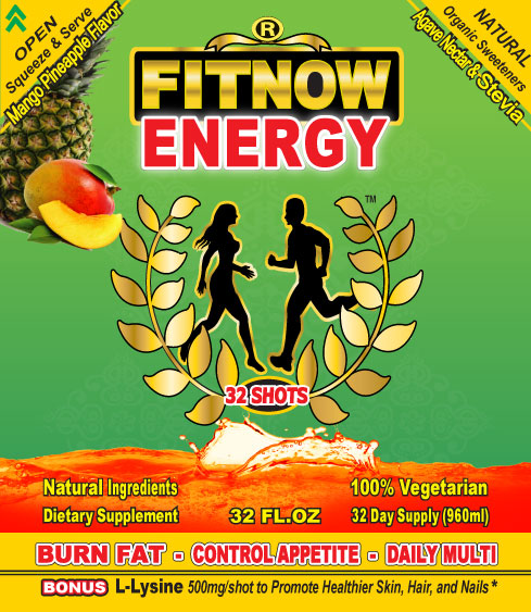 FITNOW ENERGY 4 FITNESS and FAT BURNER: Work Hard - Train Harder